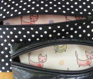 Make-up bag inside